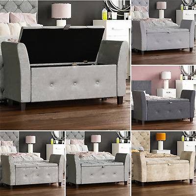 Seville Storage Ottoman Seat Stool Bench Pouffee Toy Box Bedroom Trunk  Chest • 88.95£