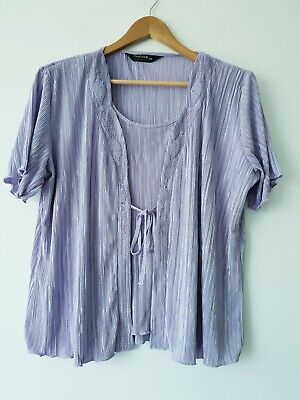 £9.99 • Buy FOREVER By MICHAEL GOLD Lilac Promo Evening Blouse Top Size XXL 915