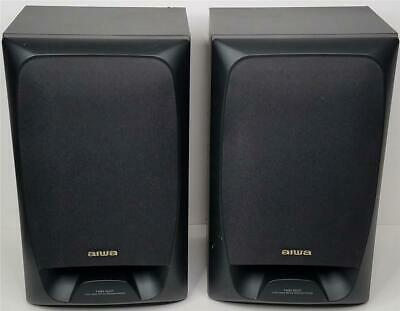 $35 • Buy Aiwa SX-AV500 Black Twin Duct 3 Way Bass Relex Stereo Main Speakers 120W 8 Ohm