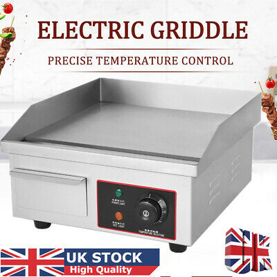 Electric Griddle Countertop Hot Plate Commercial BBQ Grill Egg Fryer Nonstick UK • 61.98£