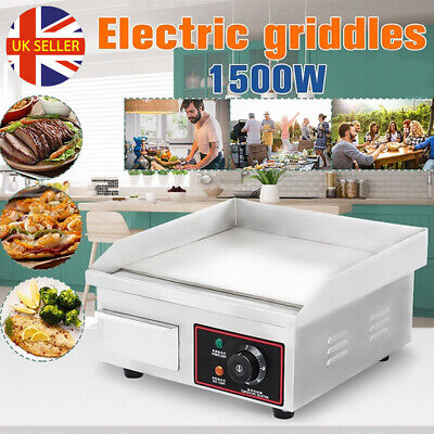 BBQ Electric Countertop Griddle Flat Fryer Top Commercial Food Grill Hot Plate • 61.98£