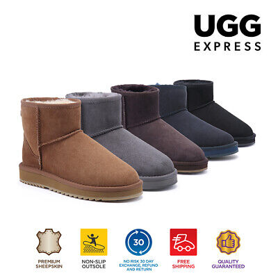 AU48.30 • Buy UGG Express Selected Unisex Mini Classic UGG Boots,Twin Face Sheepskin