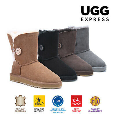 AU82 • Buy UGG Express Selected Unisex One Button UGG Boots, Twin Face Sheepskin