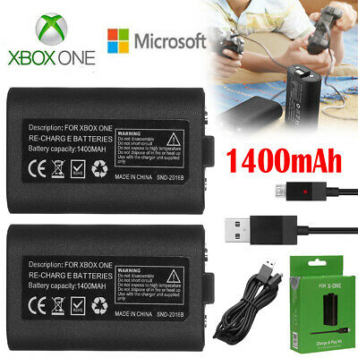 $15.99 • Buy For Official Microsoft XBOX ONE Controller Play And Charge Kit 1400mAh