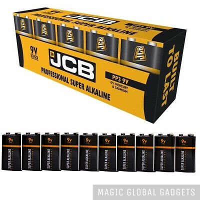 10 X Jcb Industrial 9v Pp3 Block Alkaline Batteries Mn1604 Replaces Procell • 9.99£