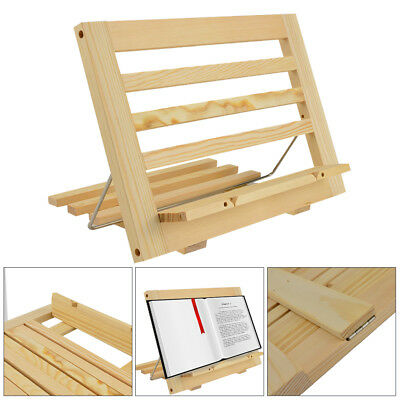Multi-funtion Wooden Book Stand Display Holder For Cookery Books LPad Tablet • 10.99£