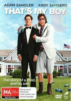 AU10.09 • Buy That's My Boy Adam Sandler Andy Samberg Comedy DVD 2012 Region 4 PAL NEW