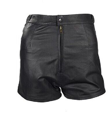 $29.95 • Buy Womens Leather Shorts With Zipper On Back