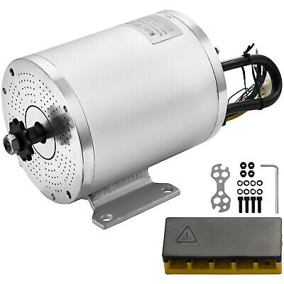 60V DC Brushless Electric Motor 2KW 5600RPM Scooter Permanent Go-kart Compatible • 85.94£