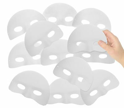 12pk CHILDRENS HALF FACE MASKS READY TO DECORATE MASK MAKING MASQUERADE • 5.99£