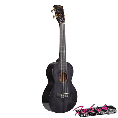 AU109 • Buy Mahalo MH3TBK Hano Series Tenor Ukulele In Transparent Black With Carry Bag