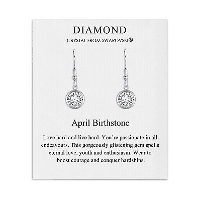 April Birthstone Drop Earrings Created With Diamond Swarovski® Crystals • 7.95£