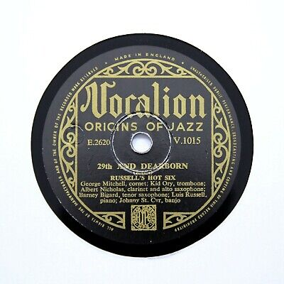 RUSSELL'S HOT SIX  29th And Dearborn  (EE+) VOCALION V-1015 [78 RPM] • 7.95£