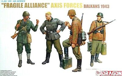 Dragon 1:35 Axis Forces  Fragile Alliance  Balkans 1943 Figures Model Kit • 16.99£