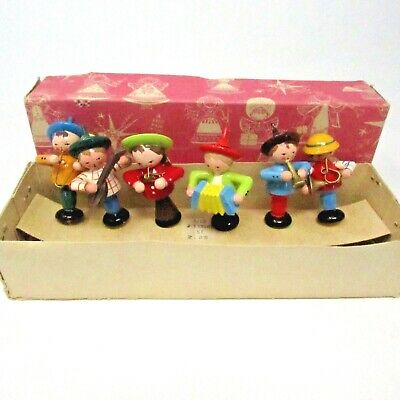 £46.04 • Buy Vintage SEVI Wooden Birthday Cake Candle Holders Band Instruments Made In Italy