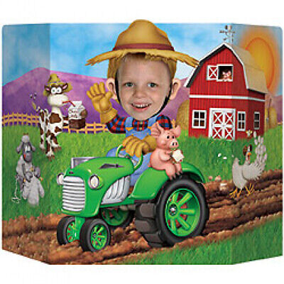 AU19.95 • Buy Tractor Time Birthday Party Photo Prop Farm Farmer Favours Supplies Decorations
