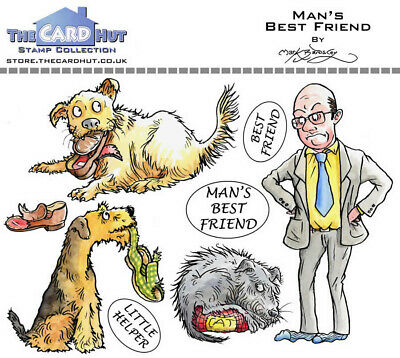 New The Card Hut Clear Stamps Man's Best Friends  • 9.50£