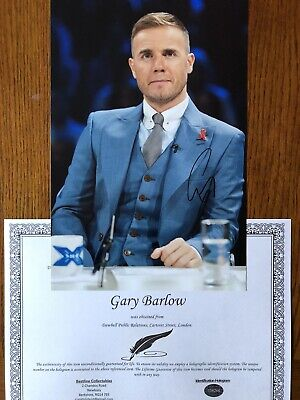 Genuine Hand Signed Gary Barlow Take That Photo 12x8 • 34£