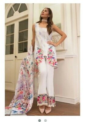 Firdous Lawn 3 Piece Stitched Suit . Comes With Full Sleeve And Sewed As Seen • 33£