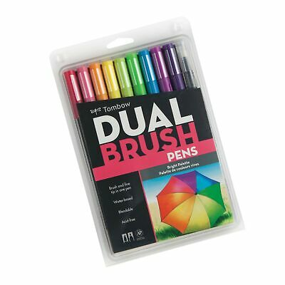 Tombow Pen Dual Brush Markers (Bright) • 16.29£