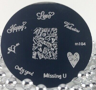 $2.50 • Buy Round Nail Stamping Plates Manicure Pedicure Nail Art 104