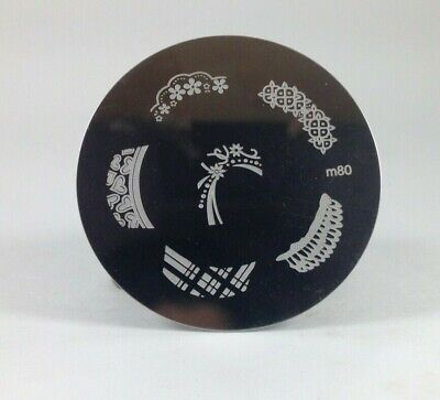 $2.50 • Buy Round Nail Stamping Plates Manicure Pedicure Nail Art 80