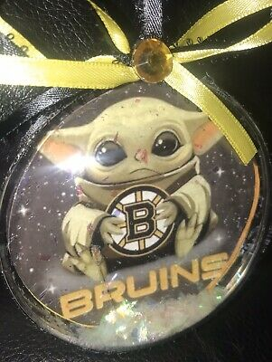 $9 • Buy 1 NHL Baby Yoda Ornament  Of Your Choice (made To Order)