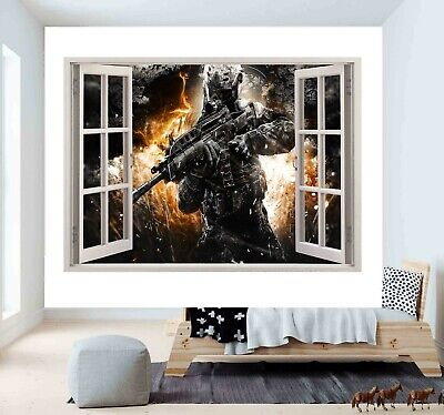 £32.50 • Buy Game COD Call Of Duty 3D Window Wall Sticker Poster Vinyl Bedroom Decal F53