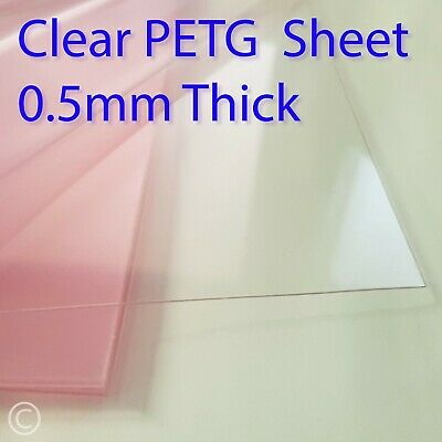 £4.50 • Buy 0.5mm Clear PETG Sheet - For Face Mask Visors, Crafting, Doll House, Easy Cut