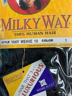 $24.99 • Buy Milky Way 10 , 12  Yaky Weave Color 1 And 1B. 100% Human Hair