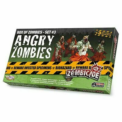 AU29.95 • Buy Zombicide Angry Zombies Box Of Zombies Set 3 Pack Board Game