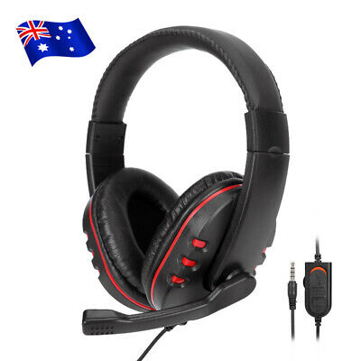 AU33.95 • Buy 3.5mm Gaming Headset Headphone Mic Stereo For PC Laptop PS4 Xbox One 360 AU
