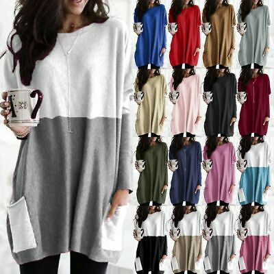 AU18.99 • Buy Women Long Sleeve Jumper Shirt Tops Loose Tunic Blouse Casual Pullover Plus Size