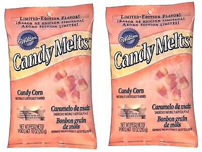2X Wilton Candy Corn Flavored Candy Melts 10 Oz Cakes Cookies Cake Pops Candy • 7.15£