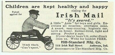 $6.79 • Buy Antique Irish Mail Bicycle Scooter 1905 Anderson Indiana Advertising Print Ad