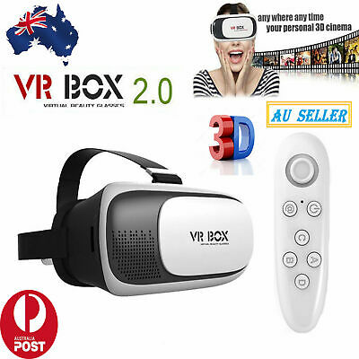 AU37.99 • Buy VR Box 3D Virtual Reality Headset Glasses& Bluetooth With Remote For Smartphones