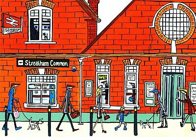£9 • Buy A4 Print Of Streatham Common Station By South London Artist Dan ..