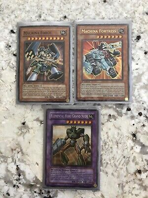 $20.09 • Buy YuGiOh 1996 Elemental Hero Grand Neos(Limited) Machina Fortress/Force (1st Ed)