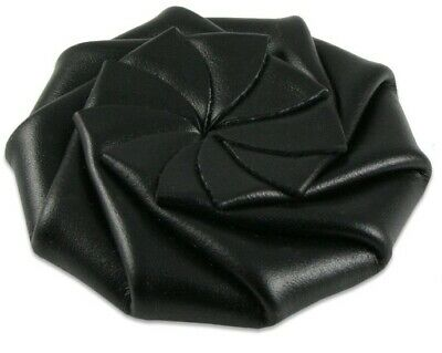 $4.99 • Buy Coin Purse Change Pouch Leather Spiral Squeeze Rose BLACK