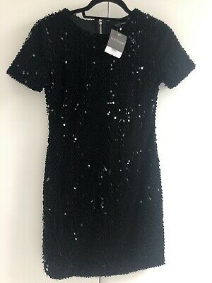 £22 • Buy Topshop Black Sequin Dress Size 8 BNWT As Seen On Beyonce
