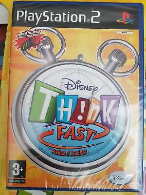 Disney Think Fast Game And 4 Buzzers PS2 PlayStation Video Game SPANISH Release • 59.99£
