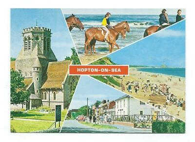 Norfolk Hopton-on-Sea Constance Multiview Postcard C.1970's • 3.95£