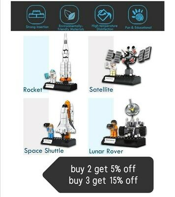 Space Rocket Toys, 4 In 1 Space Construction Toys,education Toys • 13£