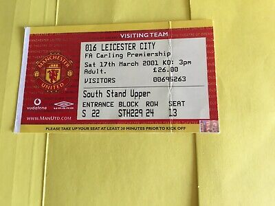 Ticket Stub Manchester United V Leicester City 2001 • 1.99£