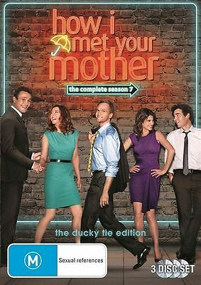 $7.09 • Buy DVD How I Met Your Mother - The Complete 7 Seven Season/Series 3 Disc FREE POST