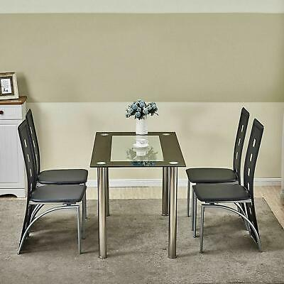 $89.90 • Buy 4-Piece Dining Chair W/ 1 Table Dining Set Home Kitchen Breakfast Furniture