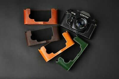 $ CDN44.87 • Buy Genuine Real Leather Half Camera Case Bag Cover For Contax RTS RTS II RTS2