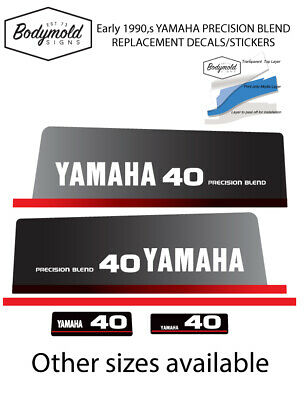 AU79 • Buy YAMAHA 40hp 1990's PRECISION BLEND  Replacement Outboard Decals