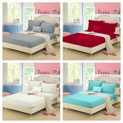 AU27.99 • Buy Clearance Solid Ultra SOFT Sheet Set Queen King Size Bedding Set New AU