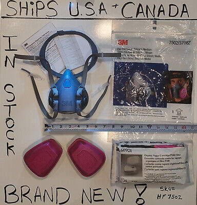 $ CDN285 • Buy 3m Half Face Respirator With P Filters 100. Silicone C Flow 7502 Medium +BUNDLES